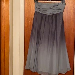 Limited strapless light and dark gray dress